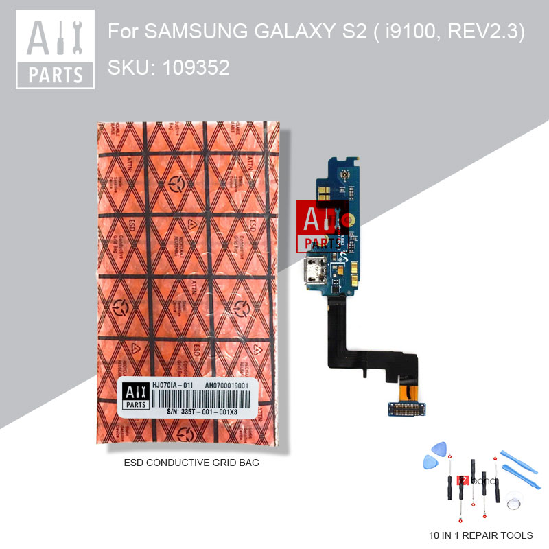 Tested REV2.3 USB Charger Flex Cable For SAMSUNG Galaxy S2 I9100 GT-i9100 USB Charging Port Dock Connector Replacement Parts