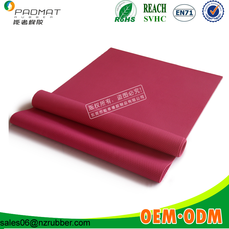Extra Thin Pink Yoga Mats For Traveling Outdoor Excerise