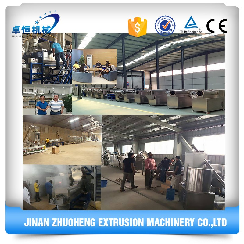 Multifuntional extruder corn maize flakes breakfast cereals machine