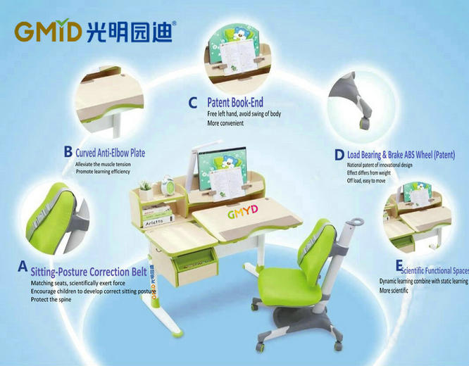 factory manufacturer export children study desk chair sets
