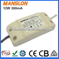 High Power Factor 12V 12W led driver 300mA 500mA 700mA constant current led lighting driver