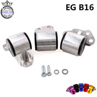 Aluminum Billet Racing Engine Mount Kits Motor Mount Swap 3 Blots For Honda EG EK B16 B18