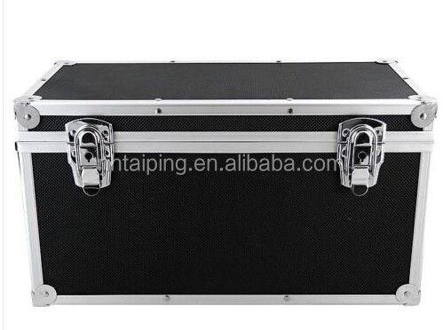 "12"" LP Vinyl Record Aluminium DJ Flight Case Black Holds 50 Tough S"