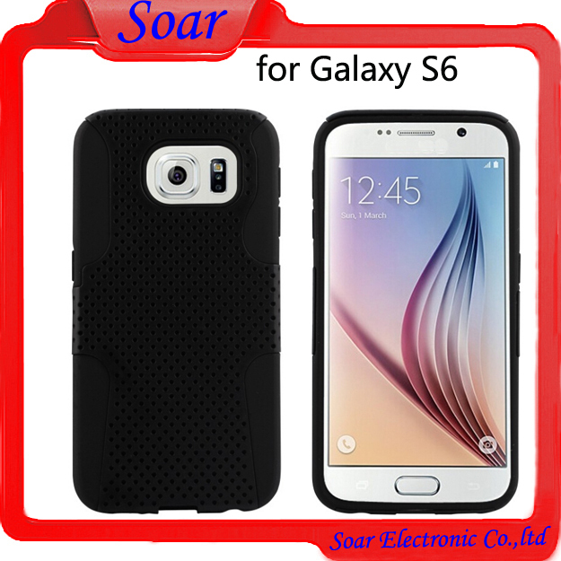 China wholsale mobile phone hybrid cover dual skin protective case for Samsung Galaxy S6