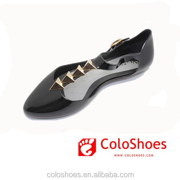 new fashion fancy women pvc jelly shoe lady sandal 2015