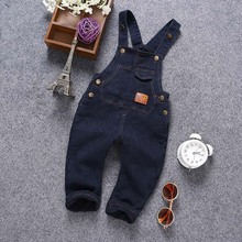 TC7022 wholesale Korean style new fashion design adult baby overalls denim overalls for kids
