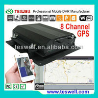 8 channel mobile surveilance dvr Central monitoring system to monitor live video and GPS vehicle tracking.