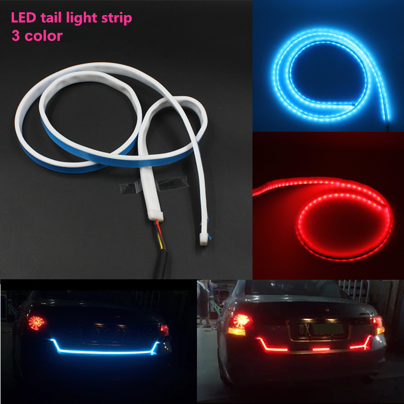 Universal flexible car auto rgb led strip tail brake stop turn universal flexible car auto rgb led strip tail brake stop turn signal light license plate lamp red and blue led color buy rgb car auto led tail box trunk aloadofball Images