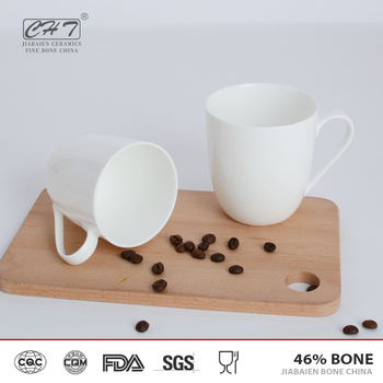 Alibaba china factory tea coffee cups white porcelain mugs wholesale with high quality