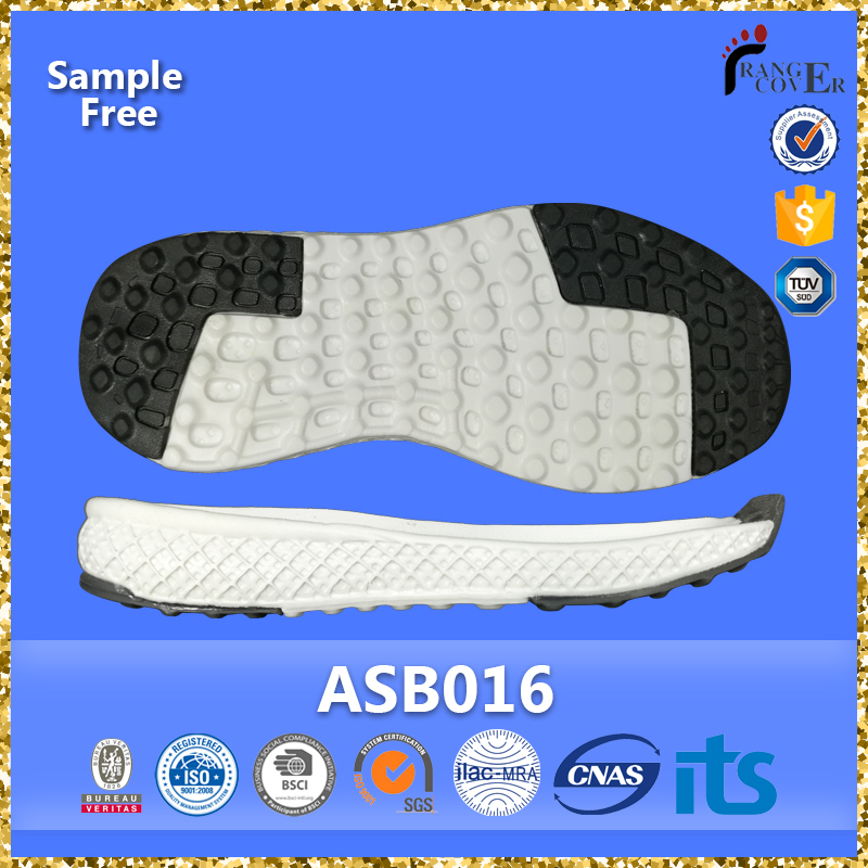 China Factory Black White Two Color EVA TPR Wholesale Sneaker Outsole