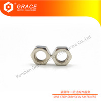 GB6172 metric nickel plated hex thin nut