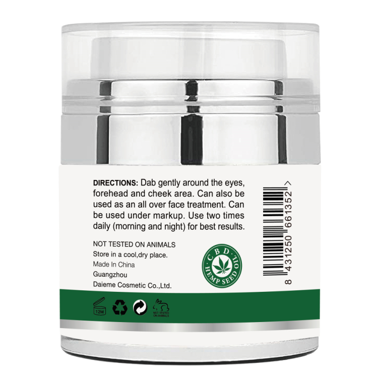 Hemp Oil Eye Gel for Anit Wrinkles, Fine Lines, Dark Circles, Puffiness, Bags