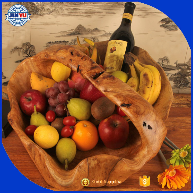 on selling inner decorative beautiful wooden fruit basket/hamper