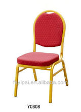 teardrop fabric banquet chair ,hotel chair gold vein frame YC607