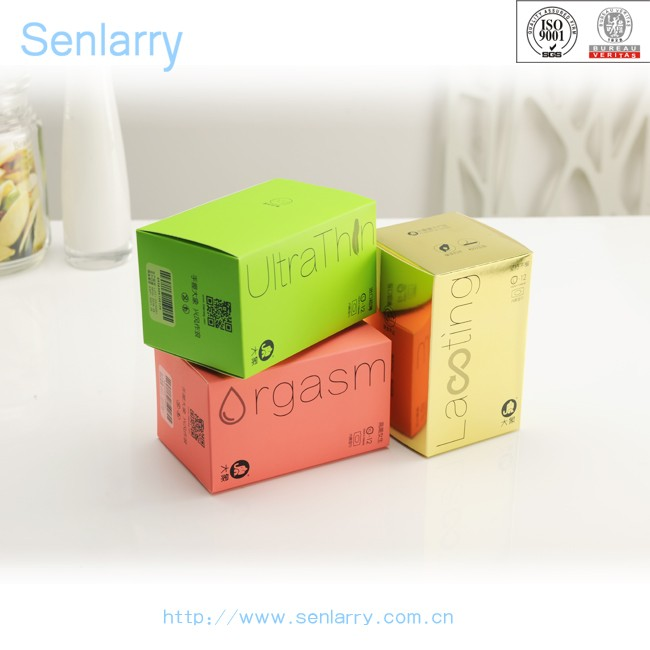 Cheap simple colors printed condom packaging box