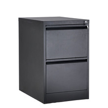 Metal Mobile 2 Drawer Filing Cabinet Pedestal With Central Lock