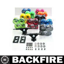 "2017 New Backfire 7"" Longboard Truck+71mmWheels+Riser pads+Abec7 Bearings+1.5"" Hardware+spacer Set"