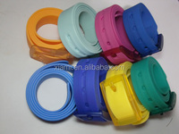 high sale good quality comfortable texture colorful fashion silicone belt 125cm waist size for men and women