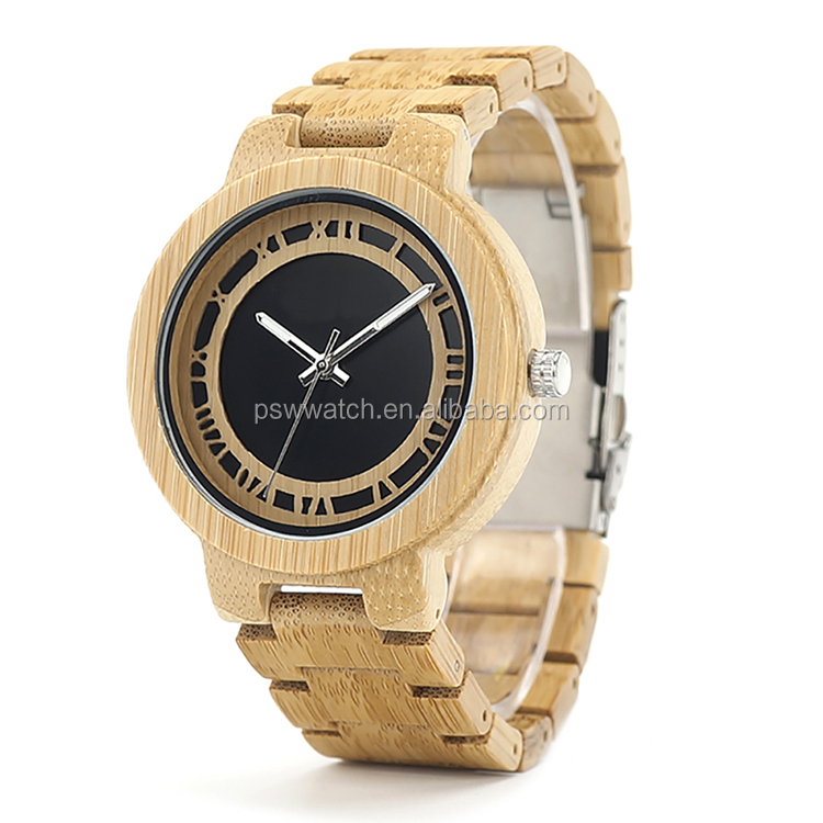 2017 New styles bulk 100% natural wooden bamboo wood watches custom logo valentine's gift