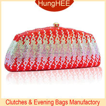 Luxury Vintage Wedding Party Crystal Clutch Bag Crystal Evening Purse