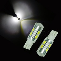 T10 W5W 921 194 10-5630 SMD High Power LED Lens XB-D Car Auto Truck Tail Sidelight Turn Light Lamp Bulb White