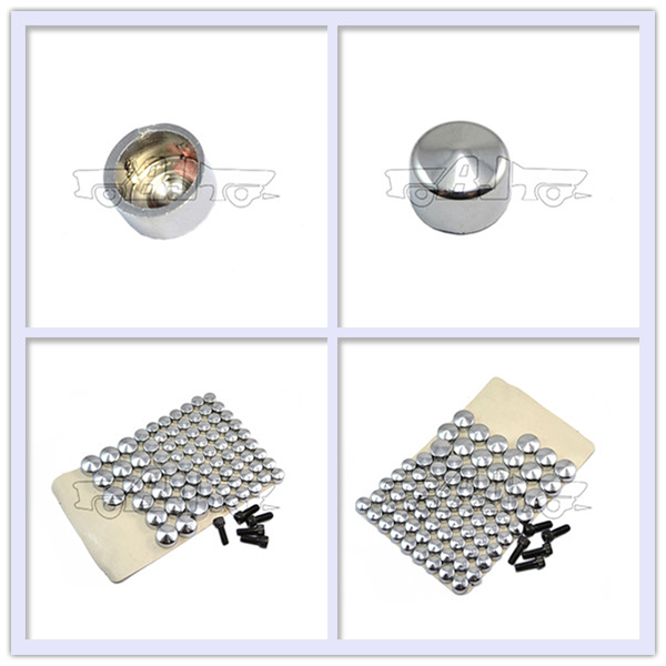 BJ-CBT247-001 Motorcycle Twin Cam Chrome Bolts Toppers Caps