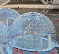 2015 new outdoor igloo inflatable clear tent from BIKIDI