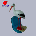 Promotional handcraft resin animal crane figurine for collection