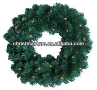 Hot Sale Christmas Wreaths with LED Light for Holiday Living