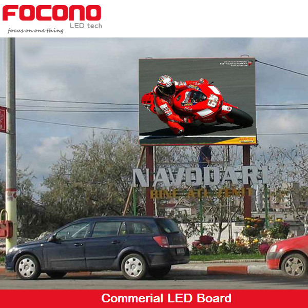 CE RoHS ETL Stand Alone Pole Commercial High Definition P16 Full Color Slogan Board Outdoor LED Advertisement Display
