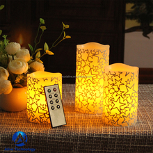 Electric flameless flickering lighted decoration LED candle