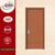 New design glass interior wood door