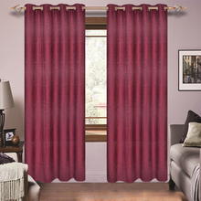 Wholesale Custom Red Jacquard Arab Style Curtains