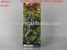 B/O crawl soldier, funny toy, role playing, action figure