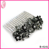 Manufacture Supply Elastic Alloy Afro Female Hair Comb