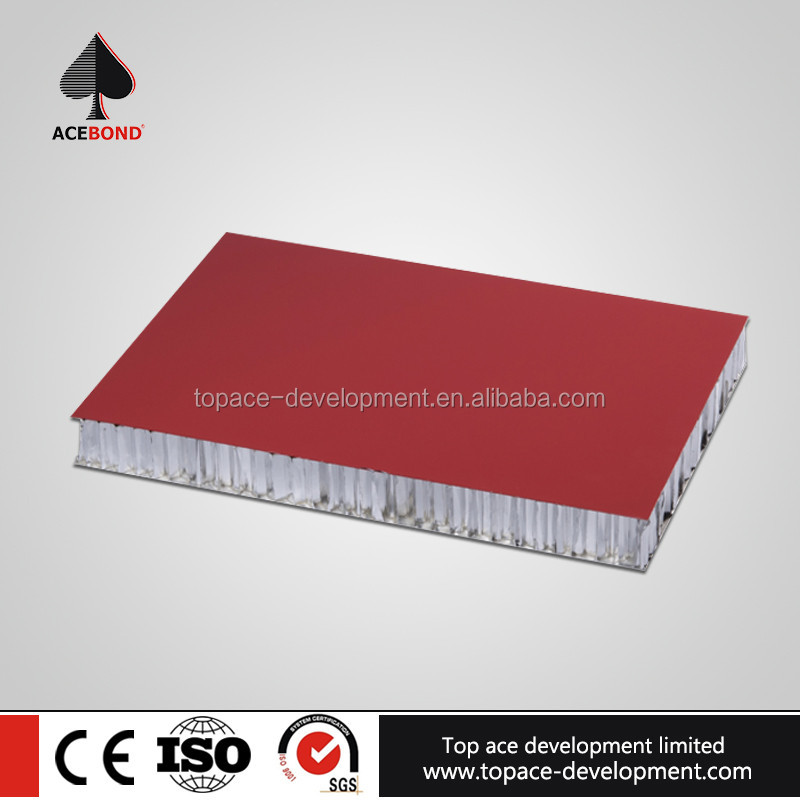 Luxury properties aluminum honeycomb sandwich board for building walls