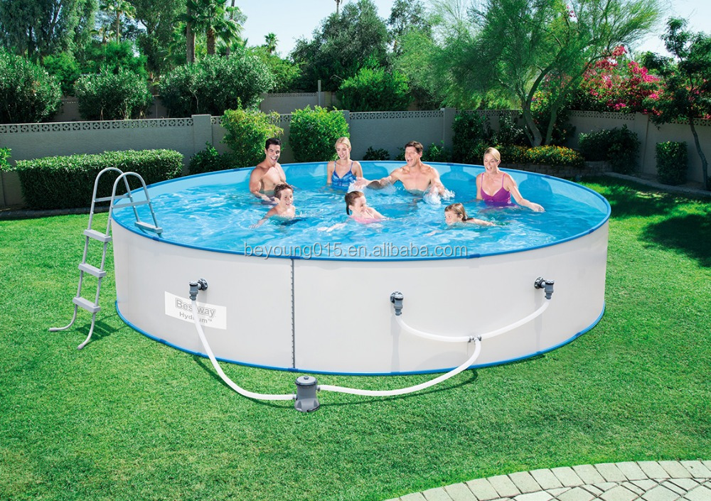 15ftx36in Steel Wall roll up Pool Set,round shape steel wall above ground pools steel wall pool manufacturers