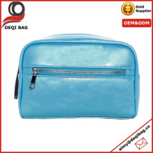 high quality shiny PU leather cosmetic pouch bag
