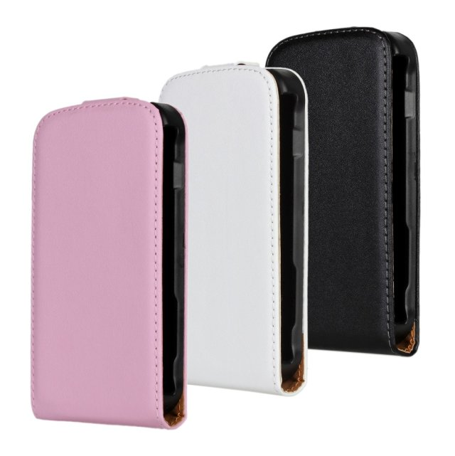 Mobile phone case genuine leather flip cover case for samsung galaxy s duos s7562