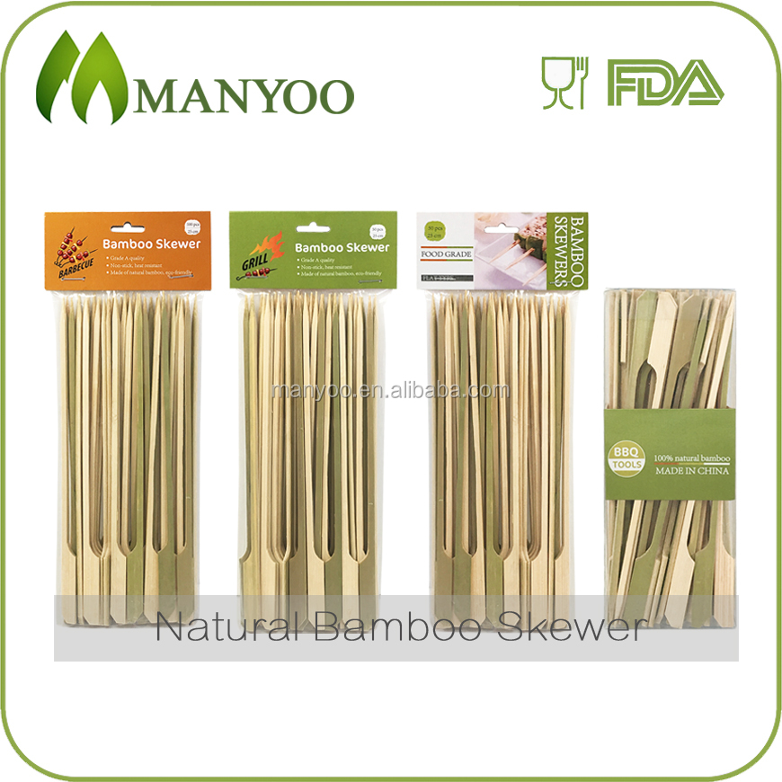 Eco-friendly disposable bamboo gun skewer