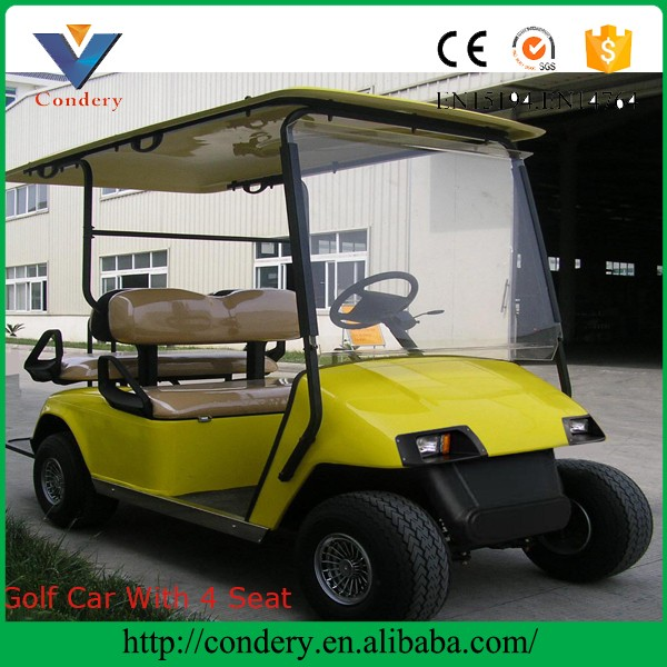 CE approved 4 seater 48V Elegant resort Electric vintage classic Golf Car