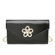 2017 wholesale china Fashion plain pu leather envelope clutch bag women