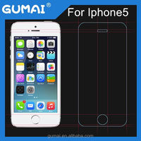 Glass 0.33mm Clear Anti-Shock 9H 2.5D Cell Phone/Mobile Phone tempered glass screen protector for iPhone 5 5c 5s