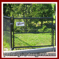 Wholesale china factory green Vinyl Coated chain link fence poles