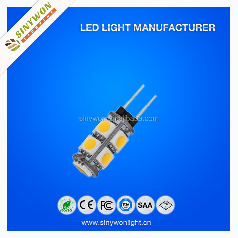 Hot selling 5PCS SMED 5050 DC12V 360 Degree LED G4