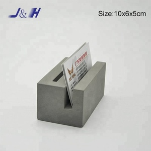 Pop up Square Cement Business Card Holder for Desk