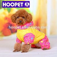 Jackets with dots for pet dog clothes wholesale dog coats