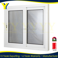 Beautiful pictures aluminum plastic glass window sliding windows with horizontal style opening