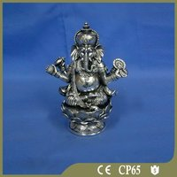 Polyresin indian ganesha silver idol for sale