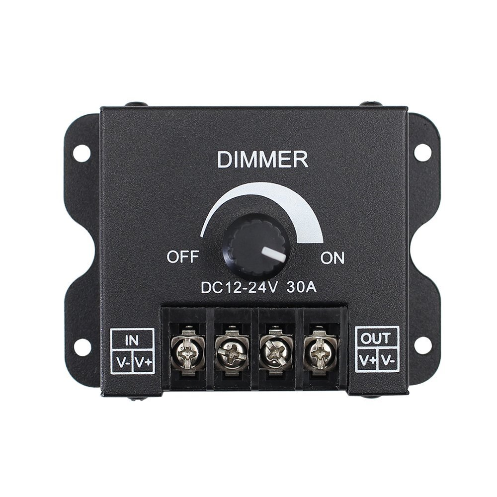 DC12V-24V aluminum housing 30A led PWM dimmer for 5050 3528 5630 led strips